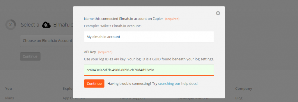 Connect your elmah.io account
