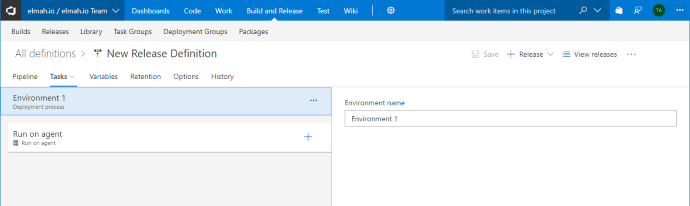 Azure DevOps release definition