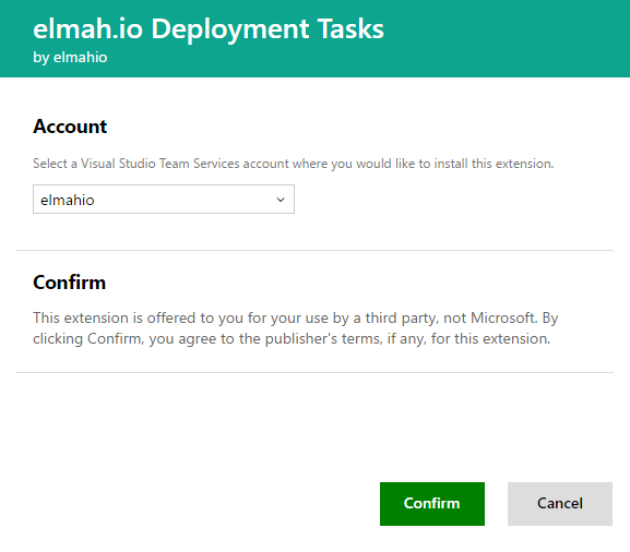elmah.io Azure DevOps account