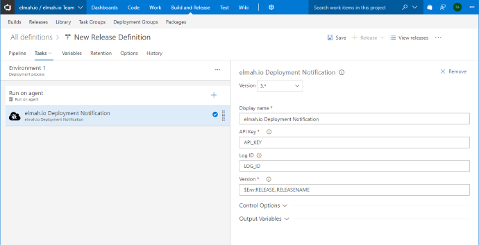 Azure DevOps task added